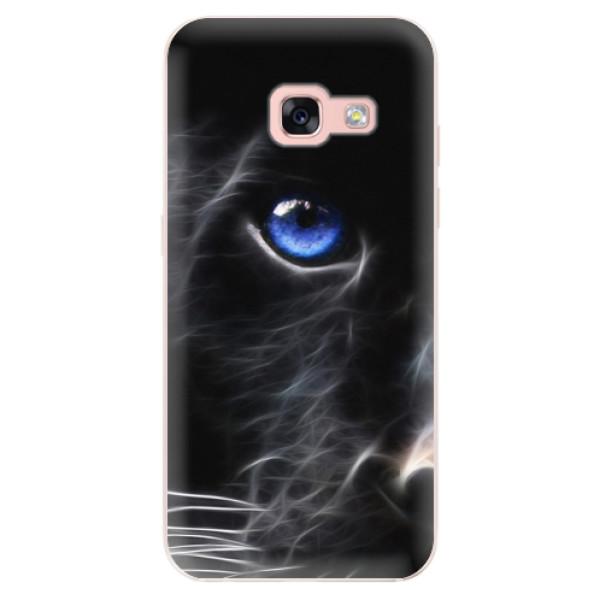Odolné silikónové puzdro iSaprio - Black Puma - Samsung Galaxy A3 2017