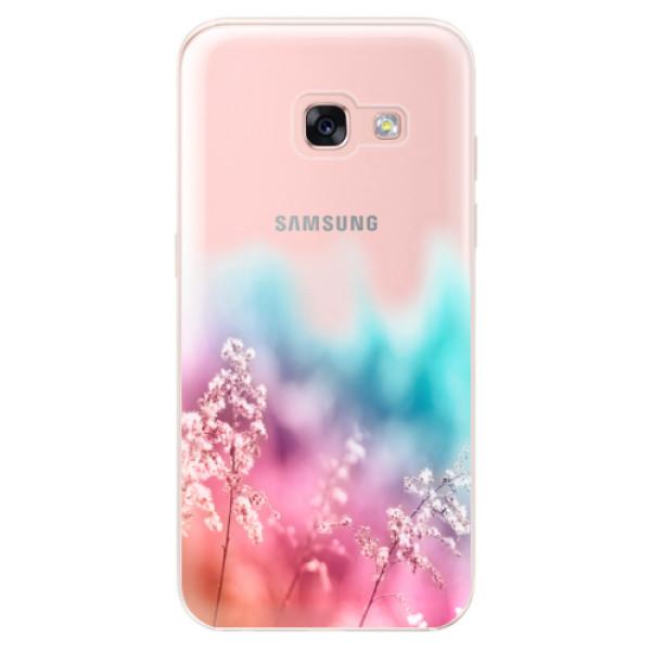 Odolné silikónové puzdro iSaprio - Rainbow Grass - Samsung Galaxy A3 2017