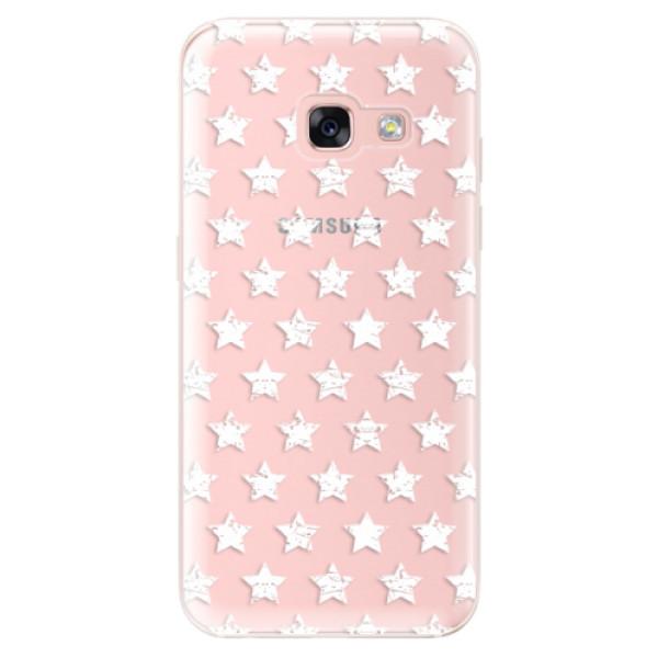 Odolné silikónové puzdro iSaprio - Stars Pattern - white - Samsung Galaxy A3 2017