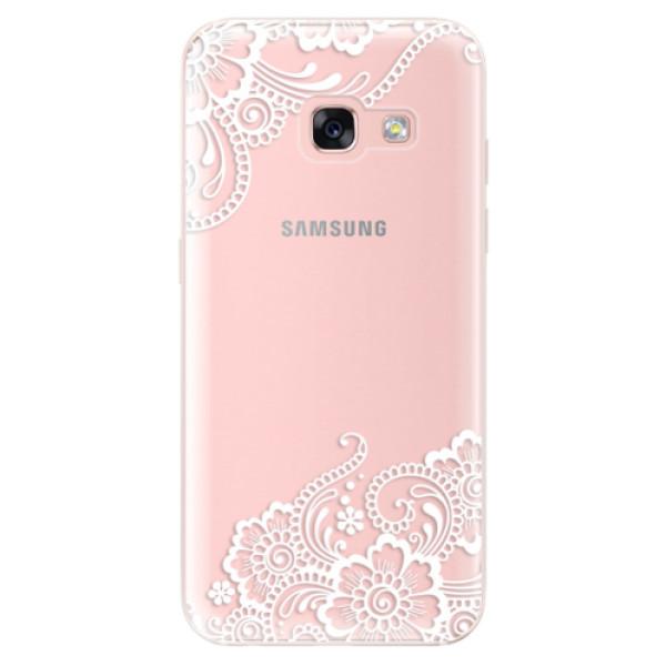 Odolné silikónové puzdro iSaprio - White Lace 02 - Samsung Galaxy A3 2017
