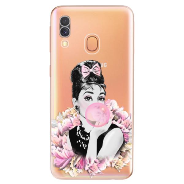 Odolné silikónové puzdro iSaprio - Pink Bubble - Samsung Galaxy A40