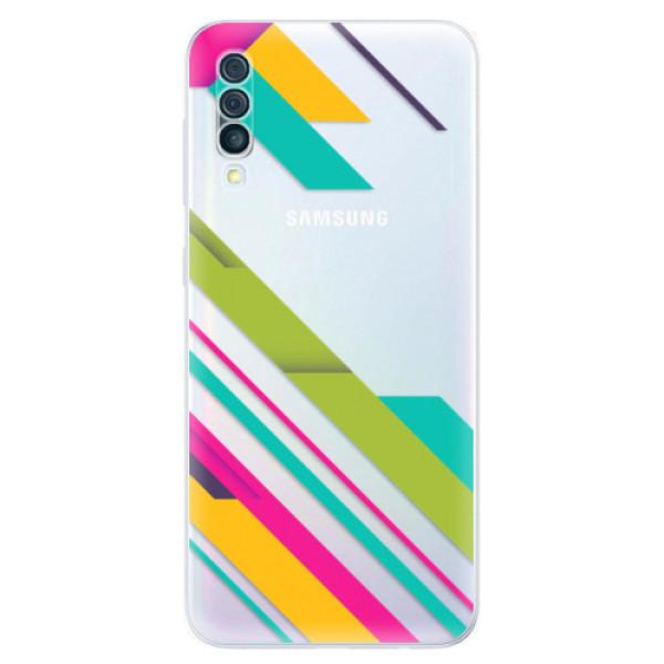 Odolné silikónové puzdro iSaprio - Color Stripes 03 - Samsung Galaxy A50