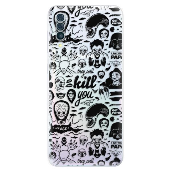 Odolné silikónové puzdro iSaprio - Comics 01 - black - Samsung Galaxy A50