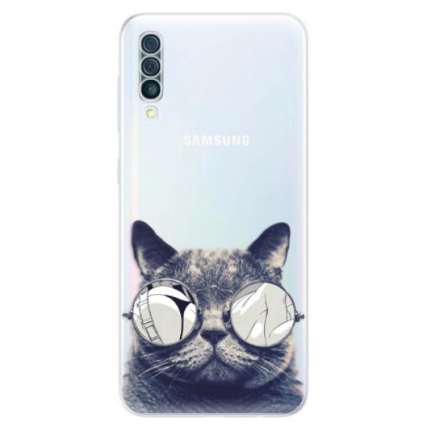 Odolné silikónové puzdro iSaprio - Crazy Cat 01 - Samsung Galaxy A50