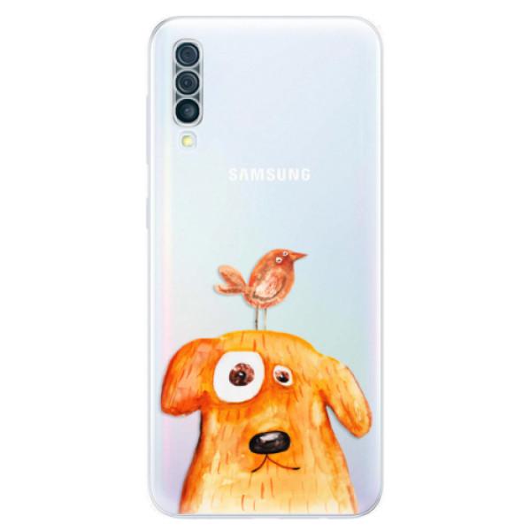 Odolné silikónové puzdro iSaprio - Dog And Bird - Samsung Galaxy A50