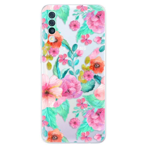 Odolné silikónové puzdro iSaprio - Flower Pattern 01 - Samsung Galaxy A50