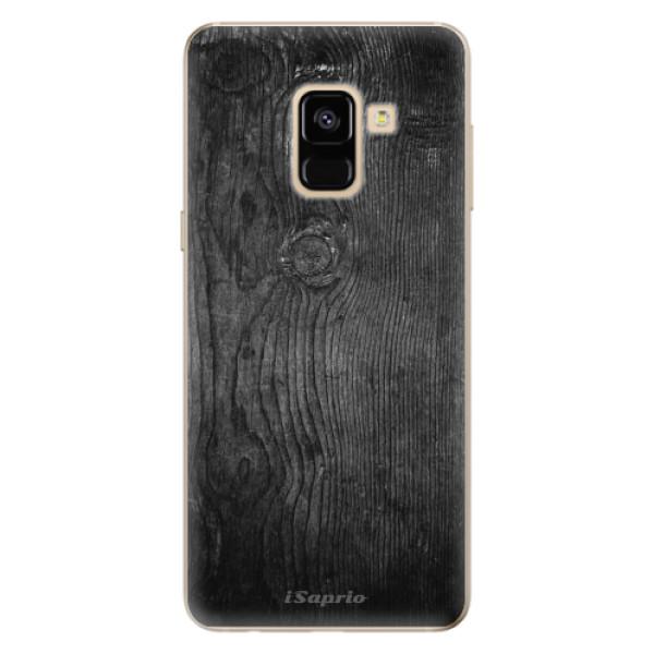 Odolné silikónové puzdro iSaprio - Black Wood 13 - Samsung Galaxy A8 2018