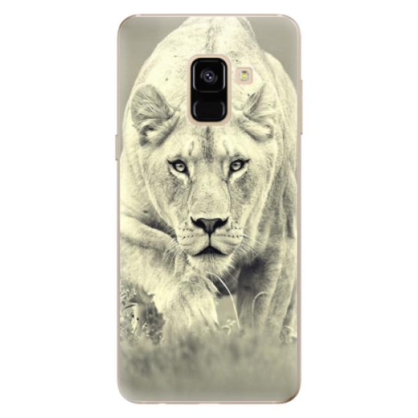 Odolné silikónové puzdro iSaprio - Lioness 01 - Samsung Galaxy A8 2018