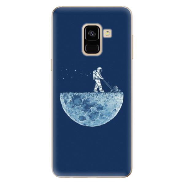 Odolné silikónové puzdro iSaprio - Moon 01 - Samsung Galaxy A8 2018