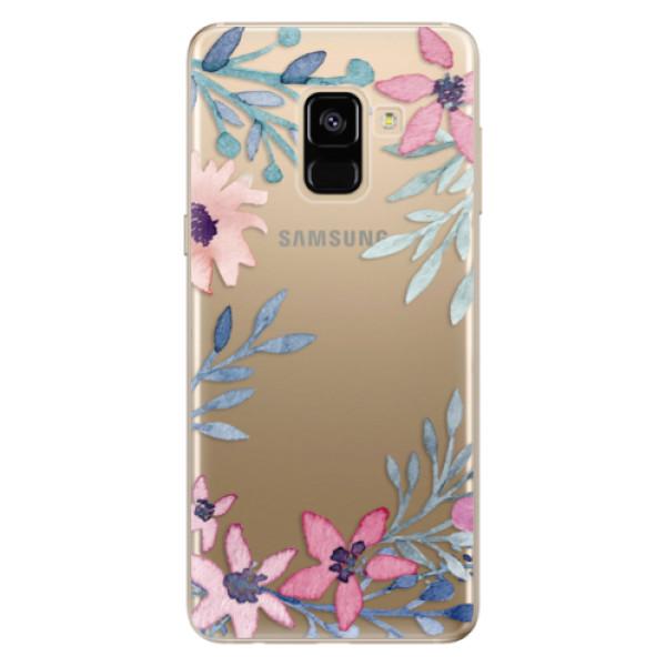 Odolné silikónové puzdro iSaprio - Leaves and Flowers - Samsung Galaxy A8 2018
