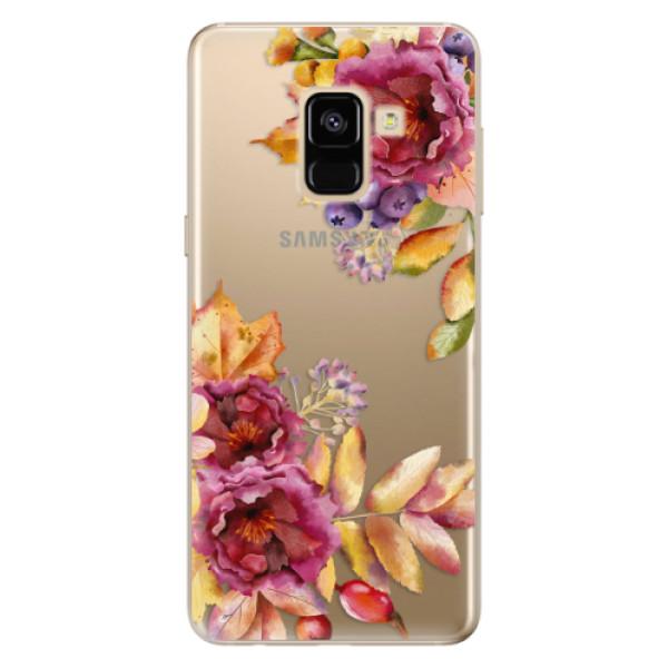 Odolné silikónové puzdro iSaprio - Fall Flowers - Samsung Galaxy A8 2018