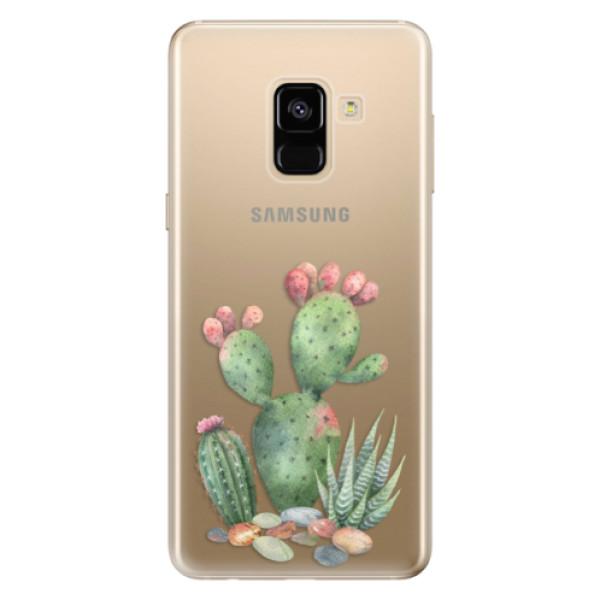 Odolné silikónové puzdro iSaprio - Cacti 01 - Samsung Galaxy A8 2018