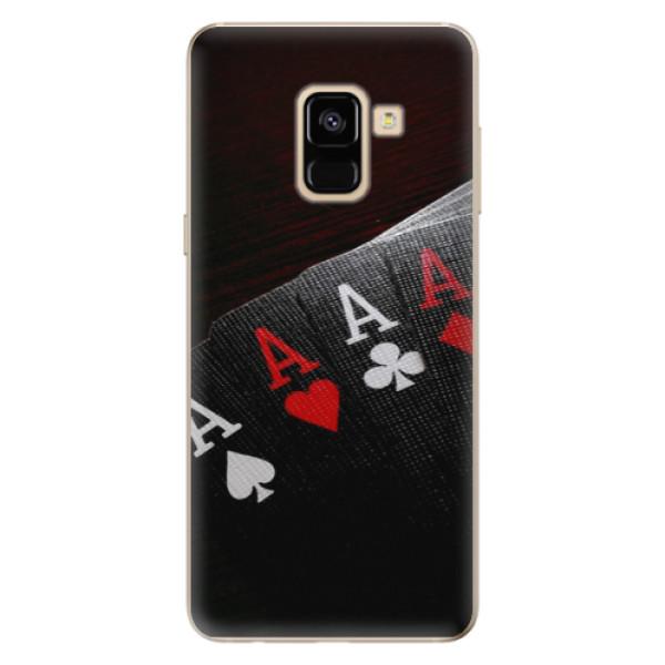 Odolné silikónové puzdro iSaprio - Poker - Samsung Galaxy A8 2018
