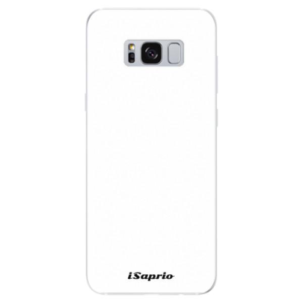 Odolné silikónové puzdro iSaprio - 4Pure - bílý - Samsung Galaxy S8