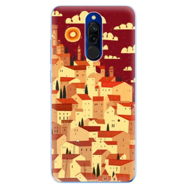 Odolné silikónové puzdro iSaprio - Mountain City - Xiaomi Redmi 8