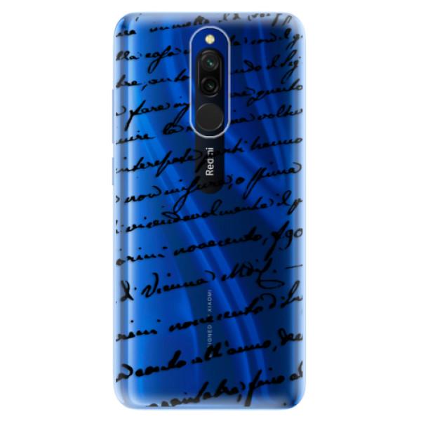Odolné silikónové puzdro iSaprio - Handwriting 01 - black - Xiaomi Redmi 8
