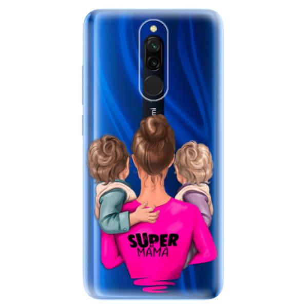 Odolné silikónové puzdro iSaprio - Super Mama - Two Boys - Xiaomi Redmi 8