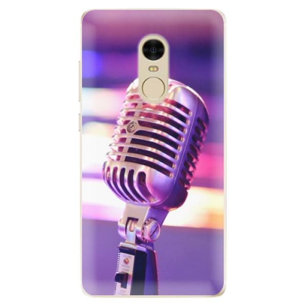 Odolné silikónové puzdro iSaprio - Vintage Microphone - Xiaomi Redmi Note 4