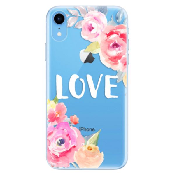 Odolné silikónové puzdro iSaprio - Love - iPhone XR