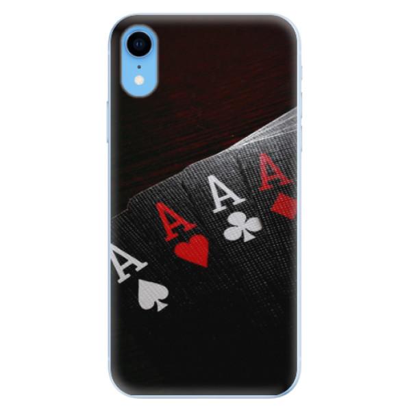 Odolné silikónové puzdro iSaprio - Poker - iPhone XR