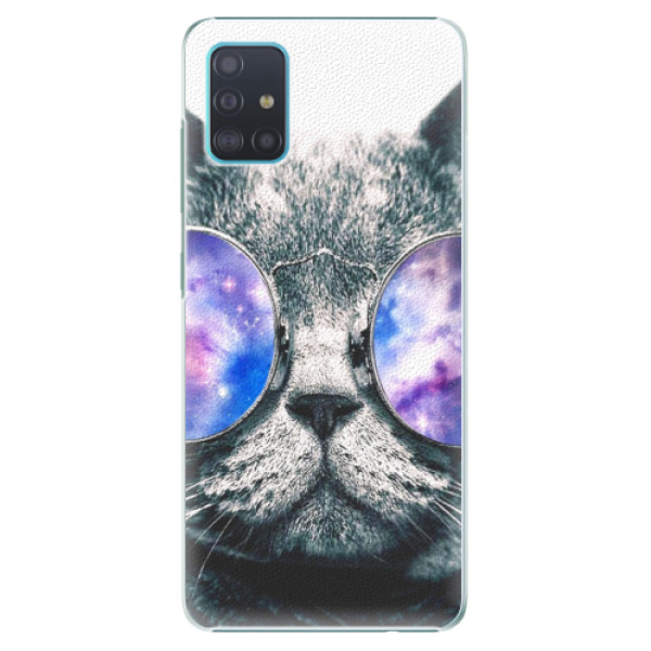 Plastové puzdro iSaprio - Galaxy Cat - Samsung Galaxy A51