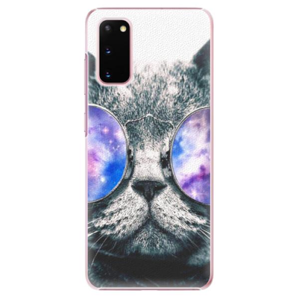Plastové puzdro iSaprio - Galaxy Cat - Samsung Galaxy S20