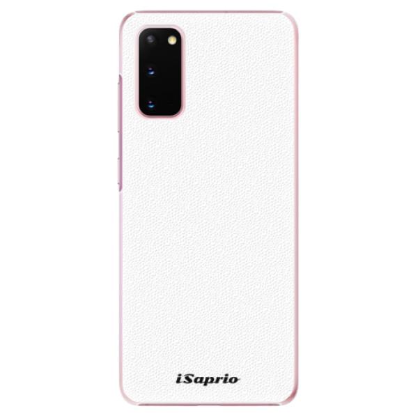 Plastové puzdro iSaprio - 4Pure - bílý - Samsung Galaxy S20