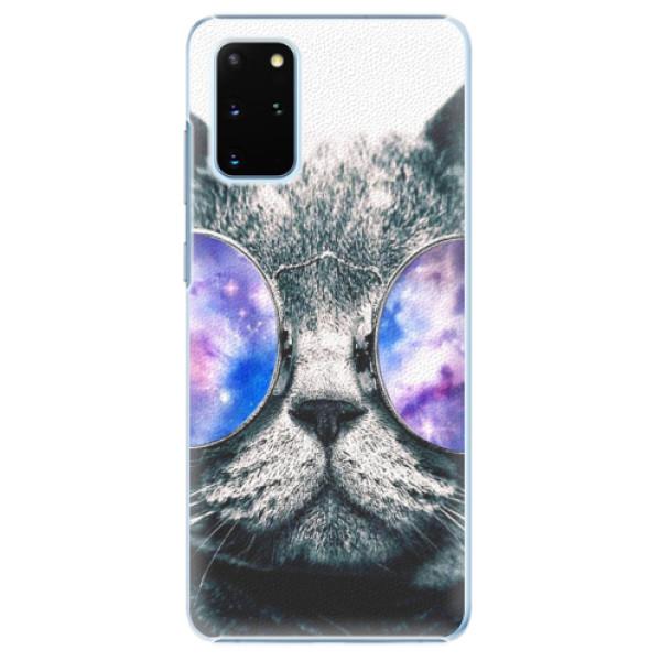 Plastové puzdro iSaprio - Galaxy Cat - Samsung Galaxy S20+
