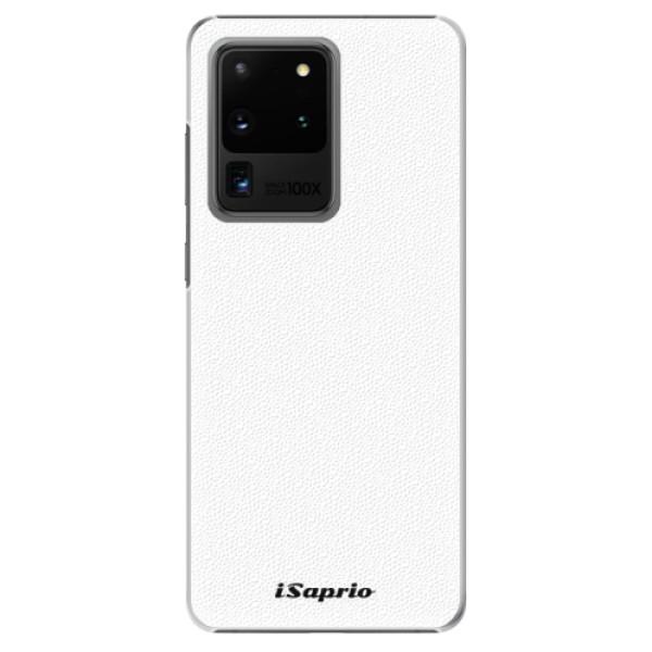 Plastové puzdro iSaprio - 4Pure - bílý - Samsung Galaxy S20 Ultra