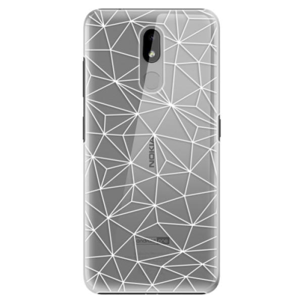 Plastové puzdro iSaprio - Abstract Triangles 03 - white - Nokia 3.2