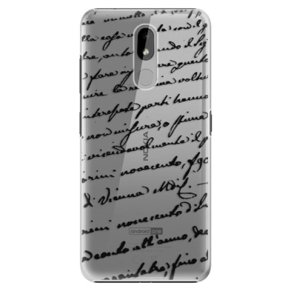 Plastové puzdro iSaprio - Handwriting 01 - black - Nokia 3.2