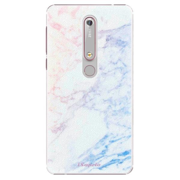 Plastové puzdro iSaprio - Raibow Marble 10 - Nokia 6.1