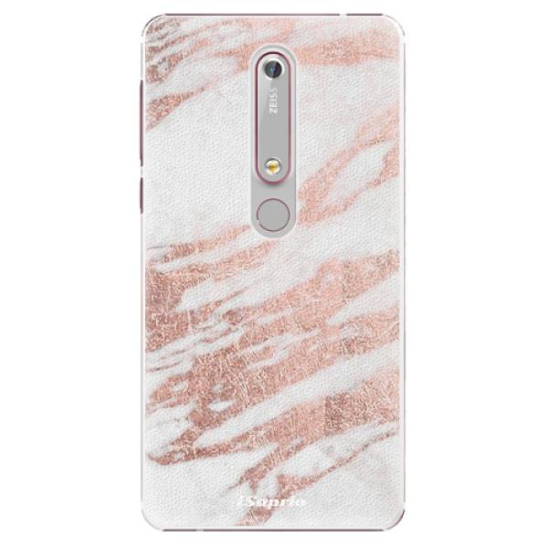 Plastové puzdro iSaprio - RoseGold 10 - Nokia 6.1