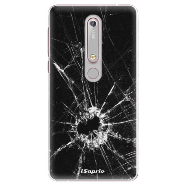 Plastové puzdro iSaprio - Broken Glass 10 - Nokia 6.1