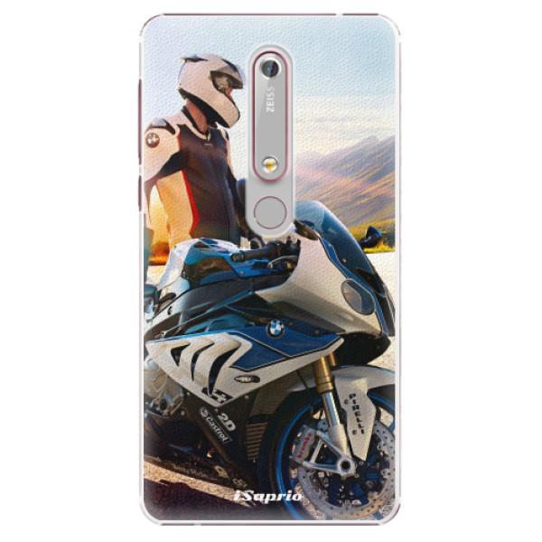 Plastové puzdro iSaprio - Motorcycle 10 - Nokia 6.1