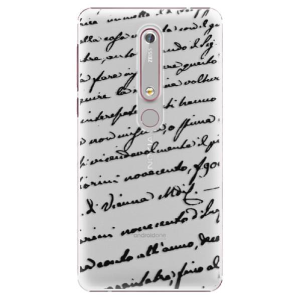 Plastové puzdro iSaprio - Handwriting 01 - black - Nokia 6.1