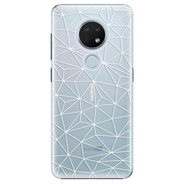 Plastové puzdro iSaprio - Abstract Triangles 03 - white - Nokia 6.2