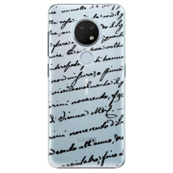 Plastové puzdro iSaprio - Handwriting 01 - black - Nokia 6.2