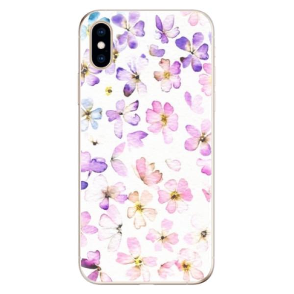 Odolné silikónové puzdro iSaprio - Wildflowers - iPhone XS