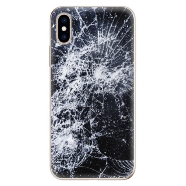 Odolné silikónové puzdro iSaprio - Cracked - iPhone XS