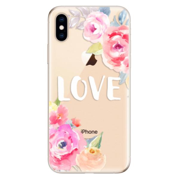 Odolné silikónové puzdro iSaprio - Love - iPhone XS
