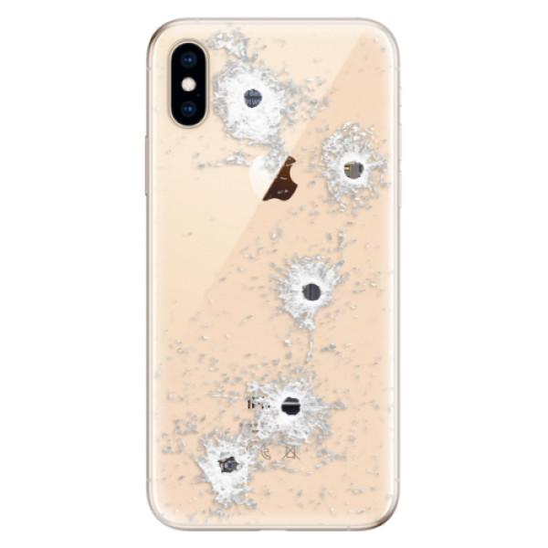 Odolné silikónové puzdro iSaprio - Gunshots - iPhone XS