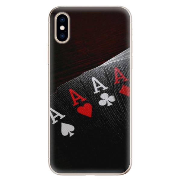 Odolné silikónové puzdro iSaprio - Poker - iPhone XS