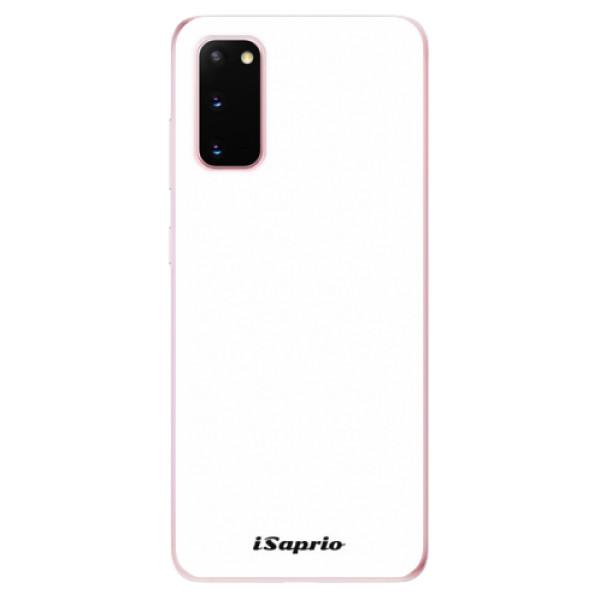 Odolné silikónové puzdro iSaprio - 4Pure - bílý - Samsung Galaxy S20