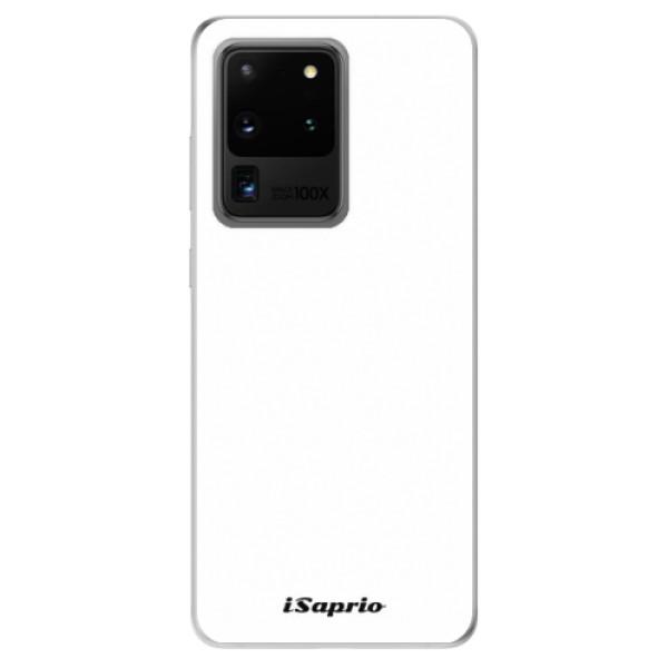 Odolné silikónové puzdro iSaprio - 4Pure - bílý - Samsung Galaxy S20 Ultra