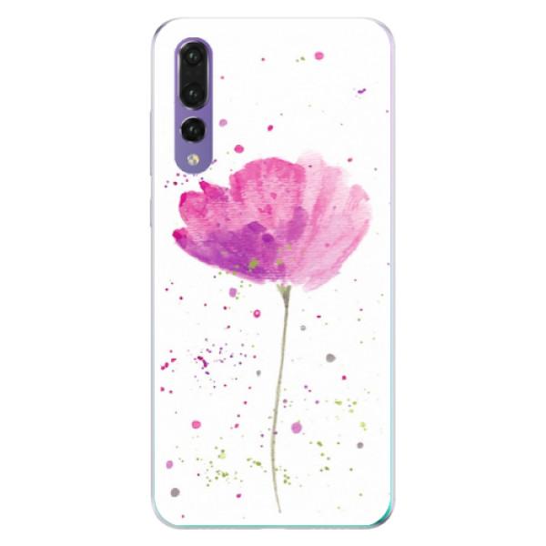 Odolné silikónové puzdro iSaprio - Poppies - Huawei P20 Pro