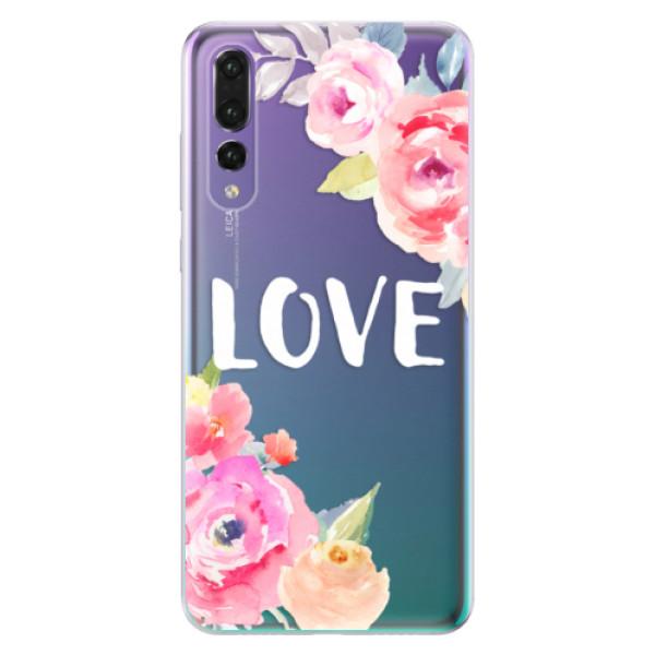 Odolné silikónové puzdro iSaprio - Love - Huawei P20 Pro