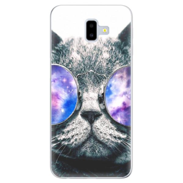 Odolné silikónové puzdro iSaprio - Galaxy Cat - Samsung Galaxy J6+