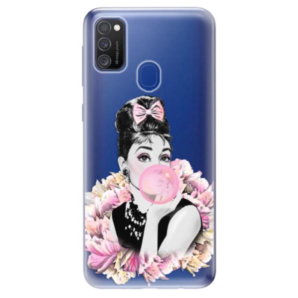 Odolné silikónové puzdro iSaprio - Pink Bubble - Samsung Galaxy M21