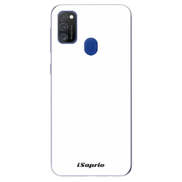 Odolné silikónové puzdro iSaprio - 4Pure - bílý - Samsung Galaxy M21